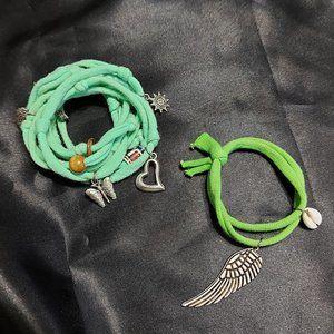 Green Yoga Chakra Wrist Wrap Bundle (2 pcs)